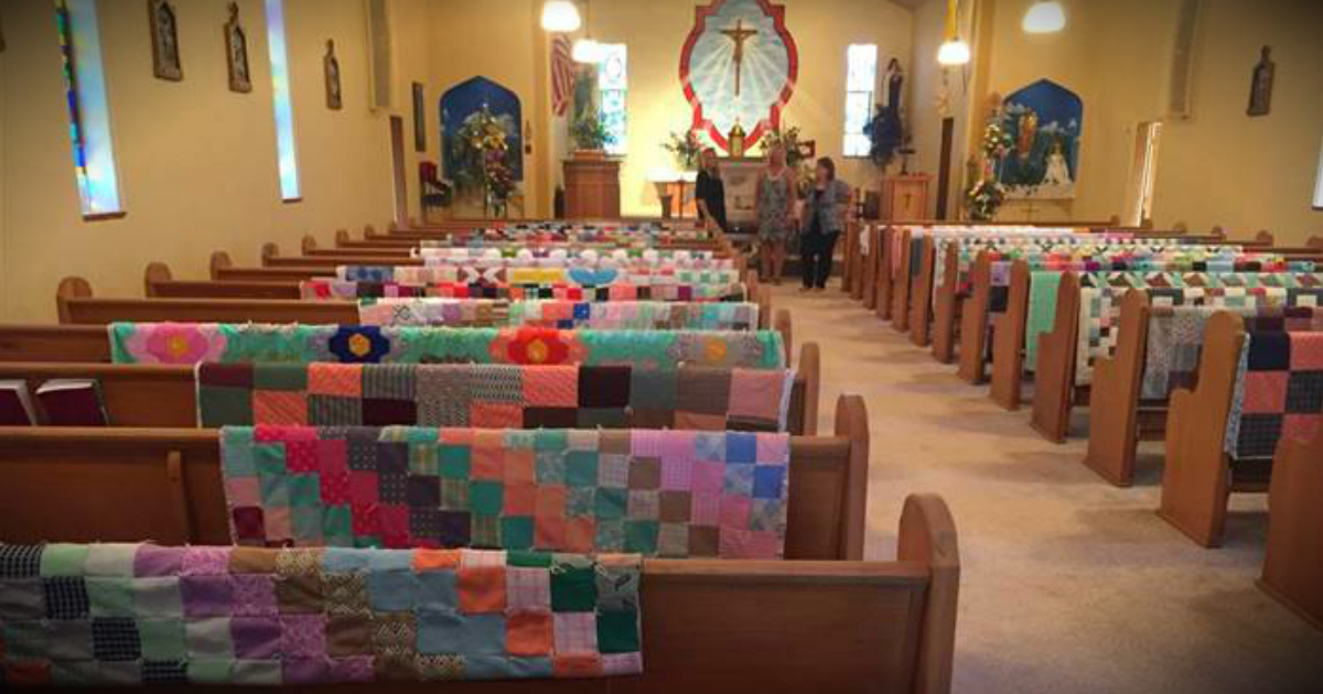 Family Displayed Grandma's Quilts At Funeral To Honor Lifetime Of Love