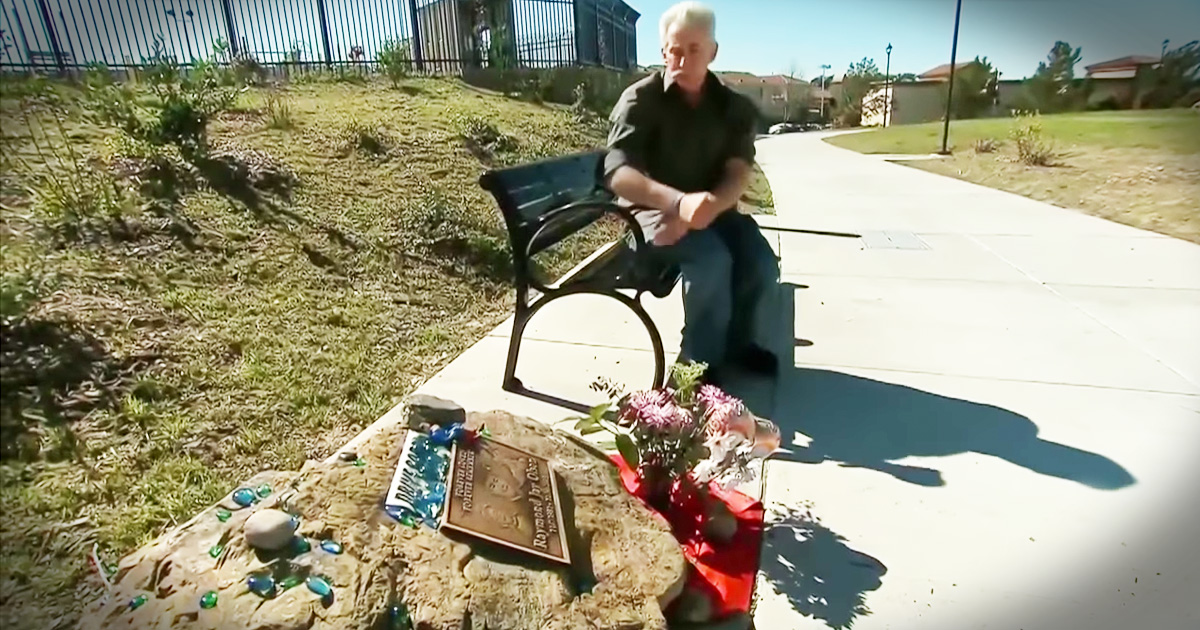 Grieving Father Secretly Tended To His Son's Memorial Until He Got A Hand From An Unlikely Place