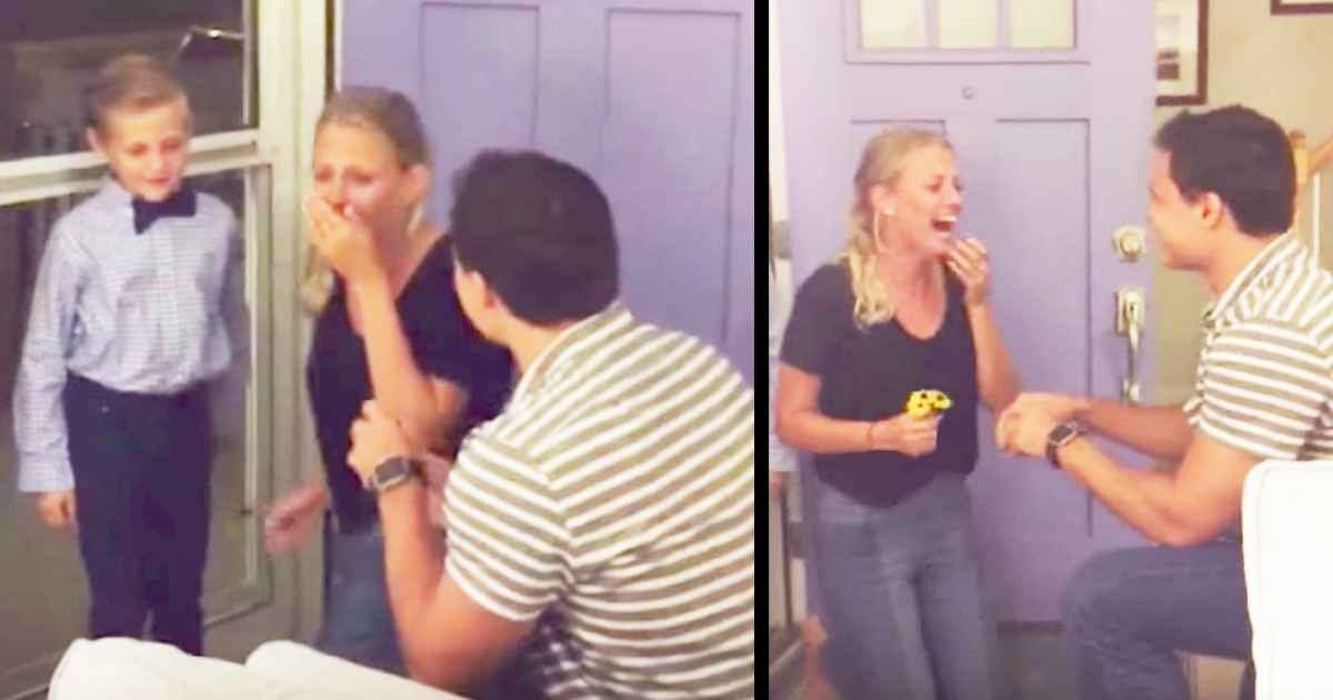 Adorable 7-Year-Old Boy Helps Man With Surprise Proposal