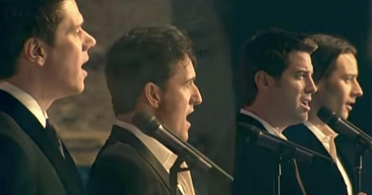 4 men perform breathtaking version of 39 amazing grace 39 - Il divo amazing grace video ...