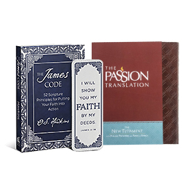The Passion Translation / The James Code & Faith Bookmark
