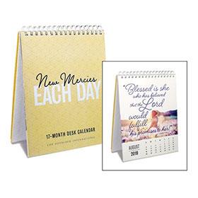 New Mercies 17-month desk calendar