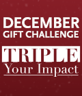 THIS DECEMBER, TRIPLE YOUR IMPACT
