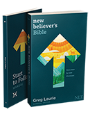 """Receive copies of the """"New Believers's Bible"""" and """"Start to Follow"""" in thanks for your support"""