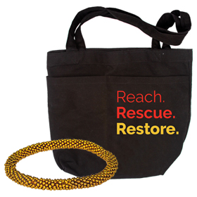 Freedom Tote with LIFE Resources / Bracelet