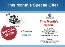 MONTHLY SPECIAL OFFER – CD Series: World Gone Mad!