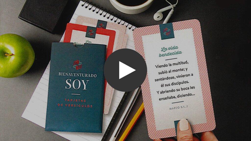 Tarjetas de versículos para memorizer: Bienaventurado soy (Tarjetas gratis)