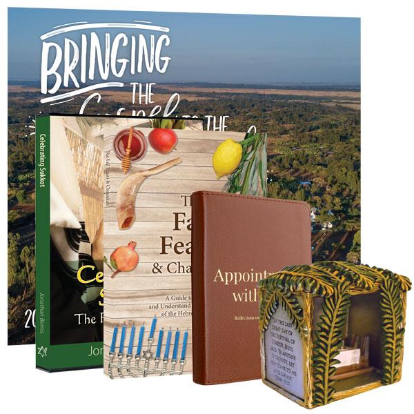 Celebrating Sukkot DVD, Devotional, Sukkah Replica, & Calendar Package