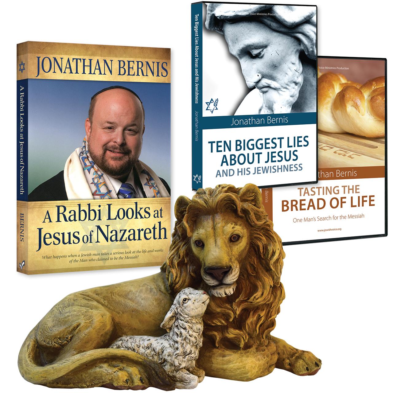 A Rabbi Looks, 10 Biggest Lies, Tasting the Bread CD, & Lion & Lamb Figurine