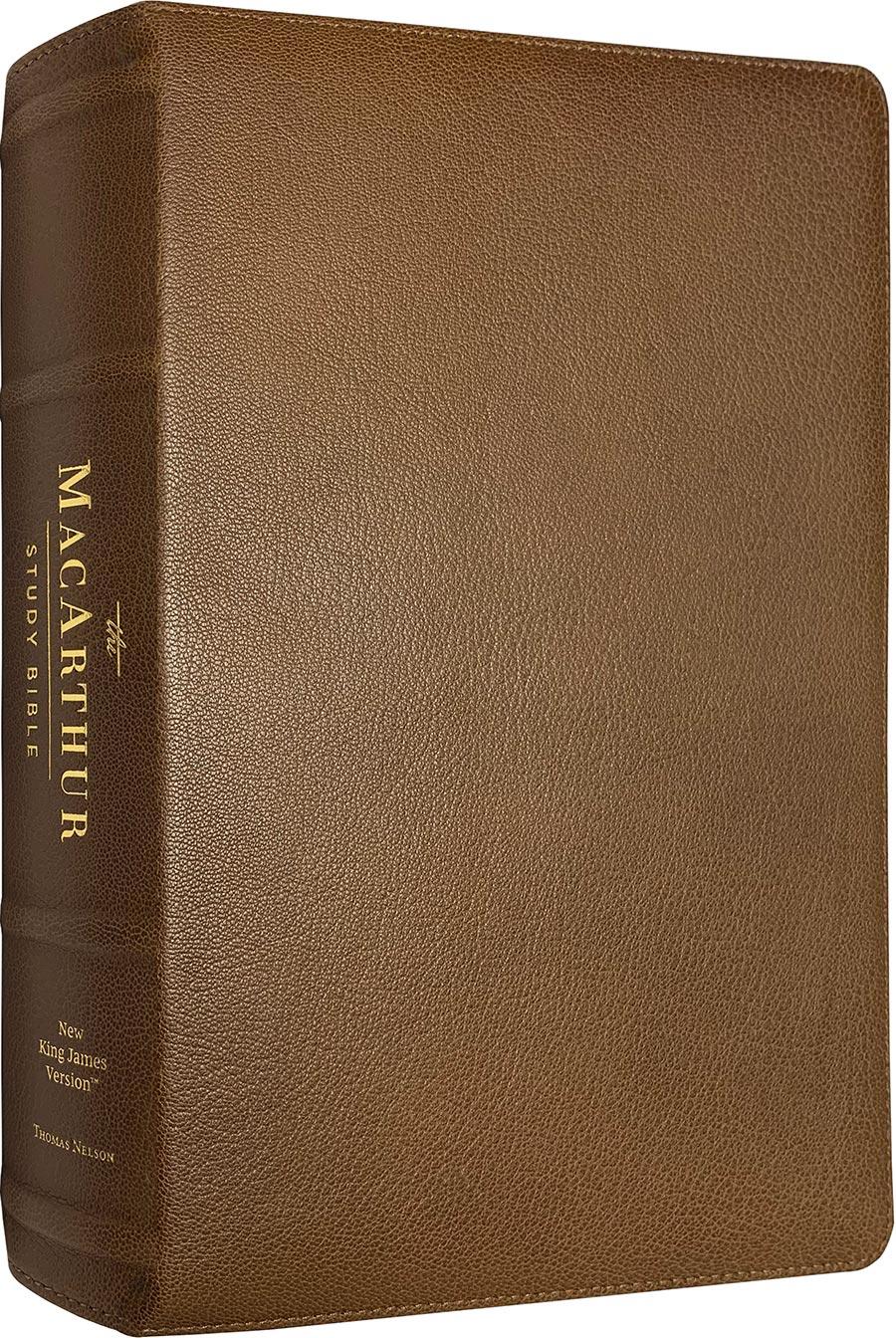 NKJV MacArthur Study Bible (Second Edition) (Brown Premium Leather)