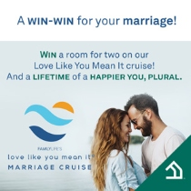 Win a free cruise that could change your marriage forever.