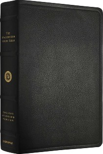 ESV MacArthur Study Bible (Black Premium Top Grain Leather)